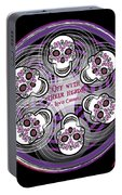 Spinning Celtic Skulls In Purple Portable Battery Charger