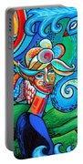 Spiral Bird Lady Portable Battery Charger by Genevieve Esson