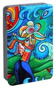 Spiral Bird Lady Portable Battery Charger