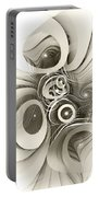 Spiral Mania 2 - Black And White Portable Battery Charger