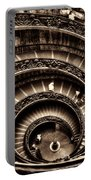Spiral Staircase No1 Sepia Portable Battery Charger