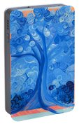 Spiral Tree Winter Blue Portable Battery Charger