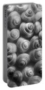 Spirals Black And White Portable Battery Charger by Priska Wettstein