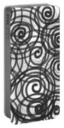Spirals Of Love Portable Battery Charger by Daina White