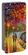 Spirits By The Lake - Palette Knife Oil Painting On Canvas By Leonid Afremov Portable Battery Charger
