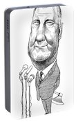 Spiro Agnew Caricature Portable Battery Charger