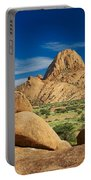 Spitzkoppe Mountain Landscape Of Granite Rocks Namibia Portable Battery Charger