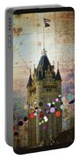 Splattered County Courthouse Portable Battery Charger