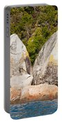 Split Apple Rock Near Abel Tasman Np In New Zealand Portable Battery Charger