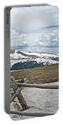Split Rail Fence Near Alpine Visitor's Center In Rocky Mountain Np-co Portable Battery Charger