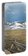 Split Rail Fence On East Side Of Trail Ridge Road In Rocky Mountain National Park-colorado Portable Battery Charger