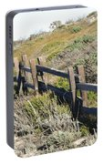 Split Rail Fence Yellow Portable Battery Charger