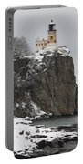 Split Rock Lighthouse Winter 19 Portable Battery Charger