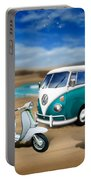 Splitty Vw Beetle And Scooters Portable Battery Charger