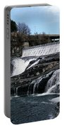 Spokane Falls At Low Tide Portable Battery Charger