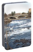 Spokane Falls In Winter Portable Battery Charger