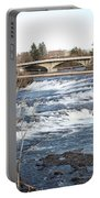 Spokane Falls In Winter Portable Battery Charger