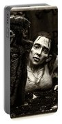 Zombie Lady Sepia Portable Battery Charger