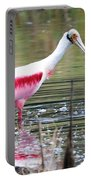 Spoonbill In The Pond Portable Battery Charger