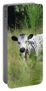 Spotted Cow In The Forest Portable Battery Charger