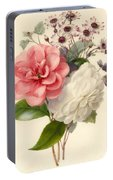 Spray Of Three Flowers Portable Battery Charger