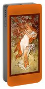 Spring Portable Battery Charger by Alphonse Maria Mucha