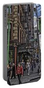 Spring And Mulberry - Street Scene - Nyc Portable Battery Charger by Madeline Ellis