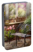 Spring - Bench - A Place To Retire  Portable Battery Charger
