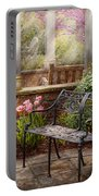 Spring - Bench - A Place To Retire  Portable Battery Charger by Mike Savad