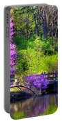 Spring Blossoms On Lake Marmo Portable Battery Charger