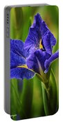 Spring Blue Iris Portable Battery Charger