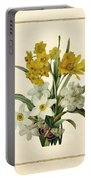 Spring Bouquet Of Daffodils And Narcissus With Butterfly Vertical Portable Battery Charger