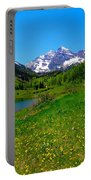Spring Colors In Maroon Bells Portable Battery Charger
