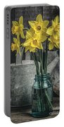 Spring Daffodil Flowers Portable Battery Charger by Edward Fielding