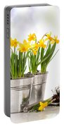 Spring Daffodils Portable Battery Charger by Amanda Elwell