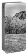 Spring Farm Landscape With Dandelions In Maine Portable Battery Charger
