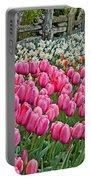 Spring Fence Landscape Art Prints Portable Battery Charger