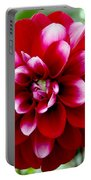 Red Spring Flower Portable Battery Charger