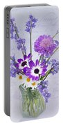 Spring Flowers In A Jam Jar Portable Battery Charger