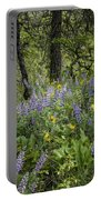 Spring Flowers In The Columbia Gorge Portable Battery Charger