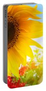 Spring Flowers In The Garden Portable Battery Charger