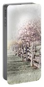 Spring Landscape With Fence Portable Battery Charger