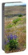 Spring Lupines And Cheatgrass Portable Battery Charger
