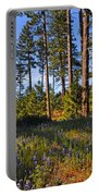 Spring Lupines In The Forest Portable Battery Charger