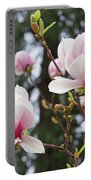 Spring Magnolia Tree Flowers Pink White Portable Battery Charger