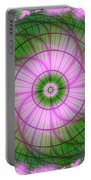 Spring Mandala For Winter Day Portable Battery Charger