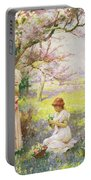Spring   Picking Flowers Portable Battery Charger