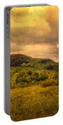 Spring Rain - White Mountains -maine Portable Battery Charger
