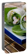Spring Rolls Portable Battery Charger by Edward Fielding