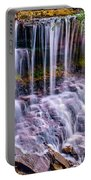 Spring Runoff At The Falls Portable Battery Charger